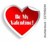be my valentine red heart... | Shutterstock . vector #227058244
