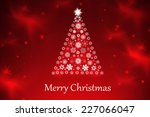 christmas background with... | Shutterstock . vector #227066047