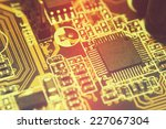closeup of electronic circuit... | Shutterstock . vector #227067304