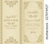 baroque invitation card in old... | Shutterstock .eps vector #227074927