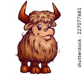 Vector Illustration Of Yak In...