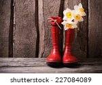 Red Child Garden Shoes With...