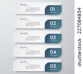 design clean number banners...   Shutterstock .eps vector #227084854
