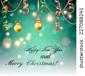 new year greeting card.... | Shutterstock .eps vector #227088241