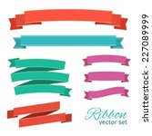 ribbons vintage style for... | Shutterstock .eps vector #227089999
