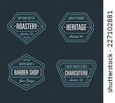 set of retro geometric badge... | Shutterstock .eps vector #227102881
