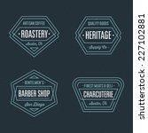 set of retro geometric badge... | Shutterstock .eps vector #227102881