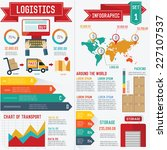 logistic and transport info... | Shutterstock .eps vector #227107537
