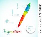 artist at work. ink pen  symbol ... | Shutterstock .eps vector #227110435