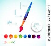 Vector Paint Brush Silhouette...
