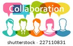 people collaboration | Shutterstock .eps vector #227110831