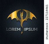 Golden Winged Dragon Symbol On...