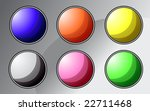 set of colorful buttons   vector   Shutterstock .eps vector #22711468