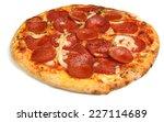 Pepperoni Pizza On White...