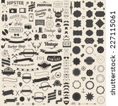 huge set of vintage styled... | Shutterstock .eps vector #227115061