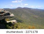 The balconies (Grampians National Park, located in Victoria, Australia) - stock photo