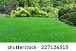peaceful garden lawn | Shutterstock . vector #227126515