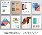 set of flyer  brochure design... | Shutterstock .eps vector #227127277