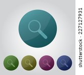 magnifier set of color vector...   Shutterstock .eps vector #227127931