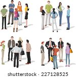 large group of people meeting.... | Shutterstock .eps vector #227128525