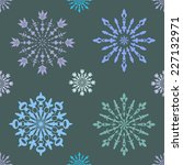 seamless pattern with large and ... | Shutterstock .eps vector #227132971