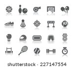 sport competition icons | Shutterstock .eps vector #227147554