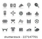 sport competition icons | Shutterstock .eps vector #227147701