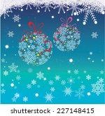 christmas ball | Shutterstock .eps vector #227148415