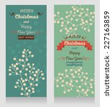 set of two cute christmas cards ... | Shutterstock .eps vector #227163859