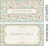 set of vintage greeting cards ... | Shutterstock .eps vector #227163991