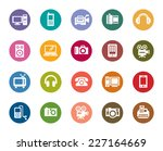 digital products color icons | Shutterstock .eps vector #227164669