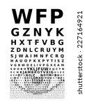 eye chart concept. eps8. rgb....