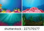 illustration of underwater... | Shutterstock .eps vector #227170177