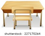 Illustration Of A Desk And A...