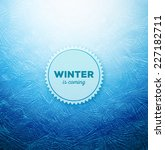 ice background  winter is...   Shutterstock .eps vector #227182711