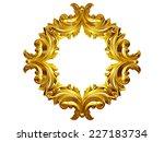 golden frame with baroque... | Shutterstock . vector #227183734