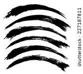 vector set of grunge brush... | Shutterstock .eps vector #227187811