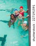 cute little kids in the... | Shutterstock . vector #227191591