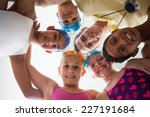 swimming coach with his... | Shutterstock . vector #227191684