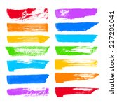 hand drawn color ink brush... | Shutterstock .eps vector #227201041
