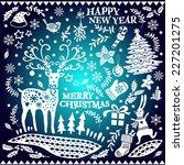 Decorative Christmas Doodle Se...