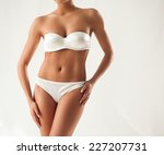 perfect female body   torso and ... | Shutterstock . vector #227207731
