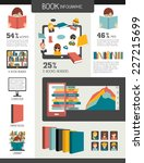 book and reading infographics.... | Shutterstock .eps vector #227215699