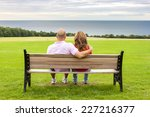 rear view of middle age couple... | Shutterstock . vector #227216377