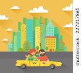 urban landscape in flat design. ... | Shutterstock .eps vector #227217865