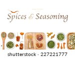spices and seasoning on white... | Shutterstock . vector #227221777