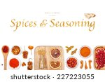 spices and seasoning on white... | Shutterstock . vector #227223055
