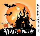 illustration of halloween... | Shutterstock .eps vector #227223355