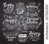 happy valentine's day hand... | Shutterstock .eps vector #227231305