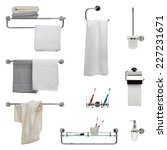 Set Of Nine Bathroom Objects  ...